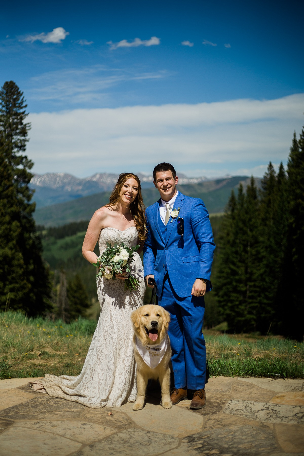 Scenic wedding in Colorado