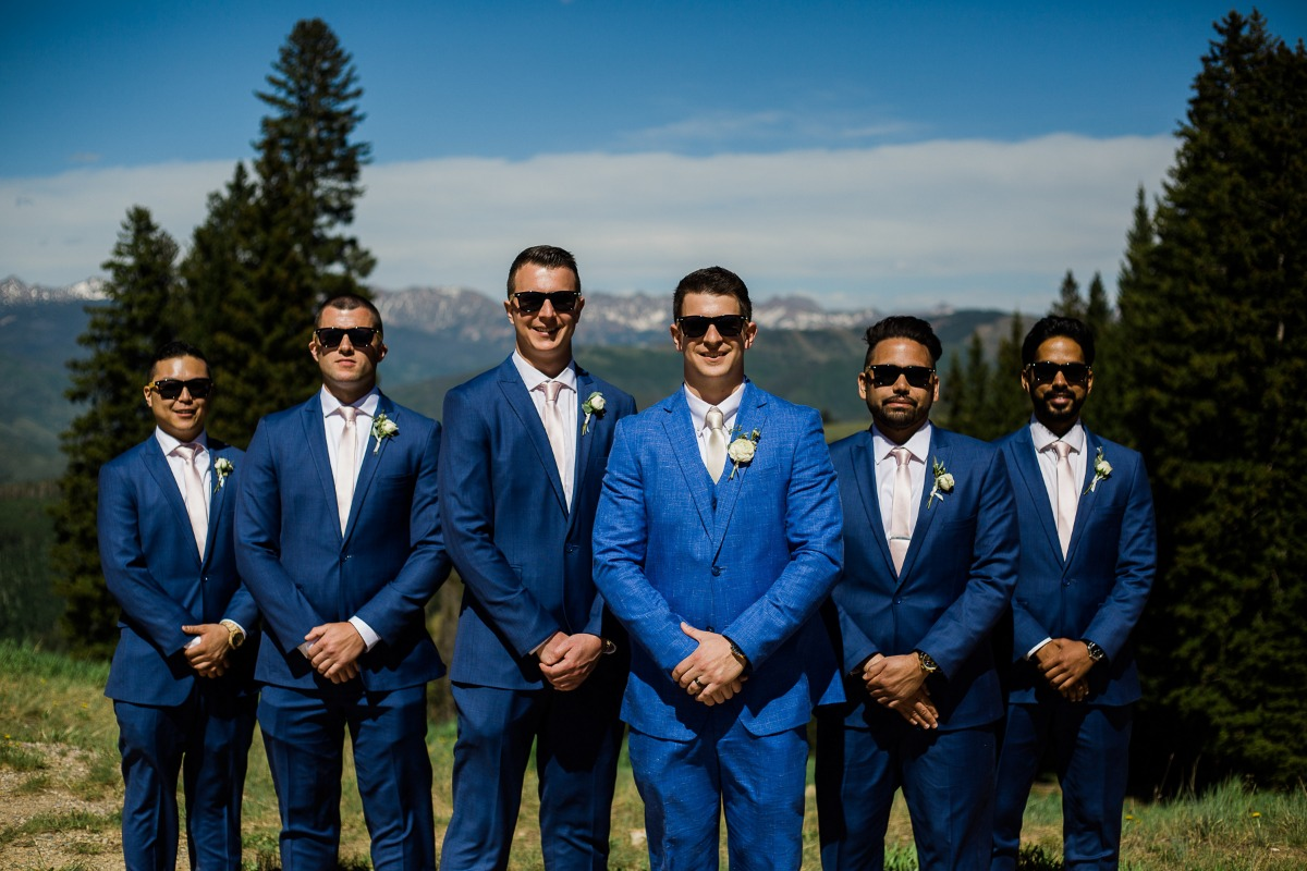 Groomsmen in shades
