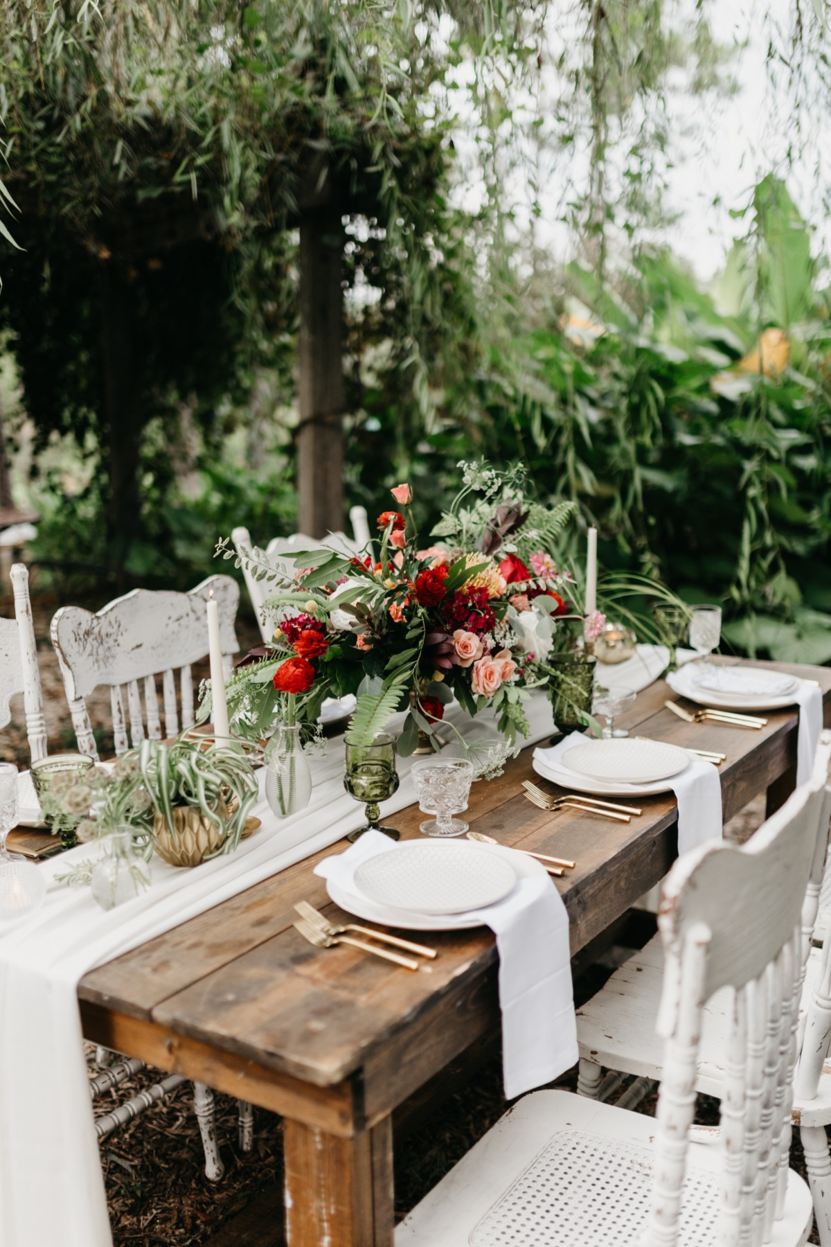 organic inspired wedding table