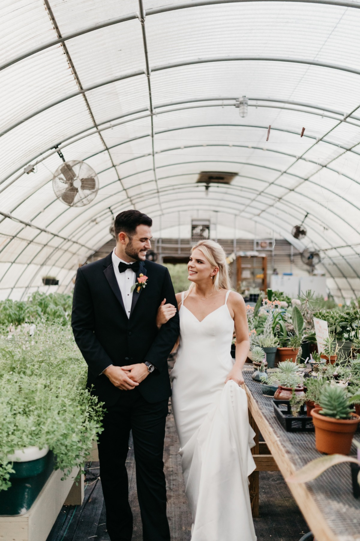 greenhouse wedding photos