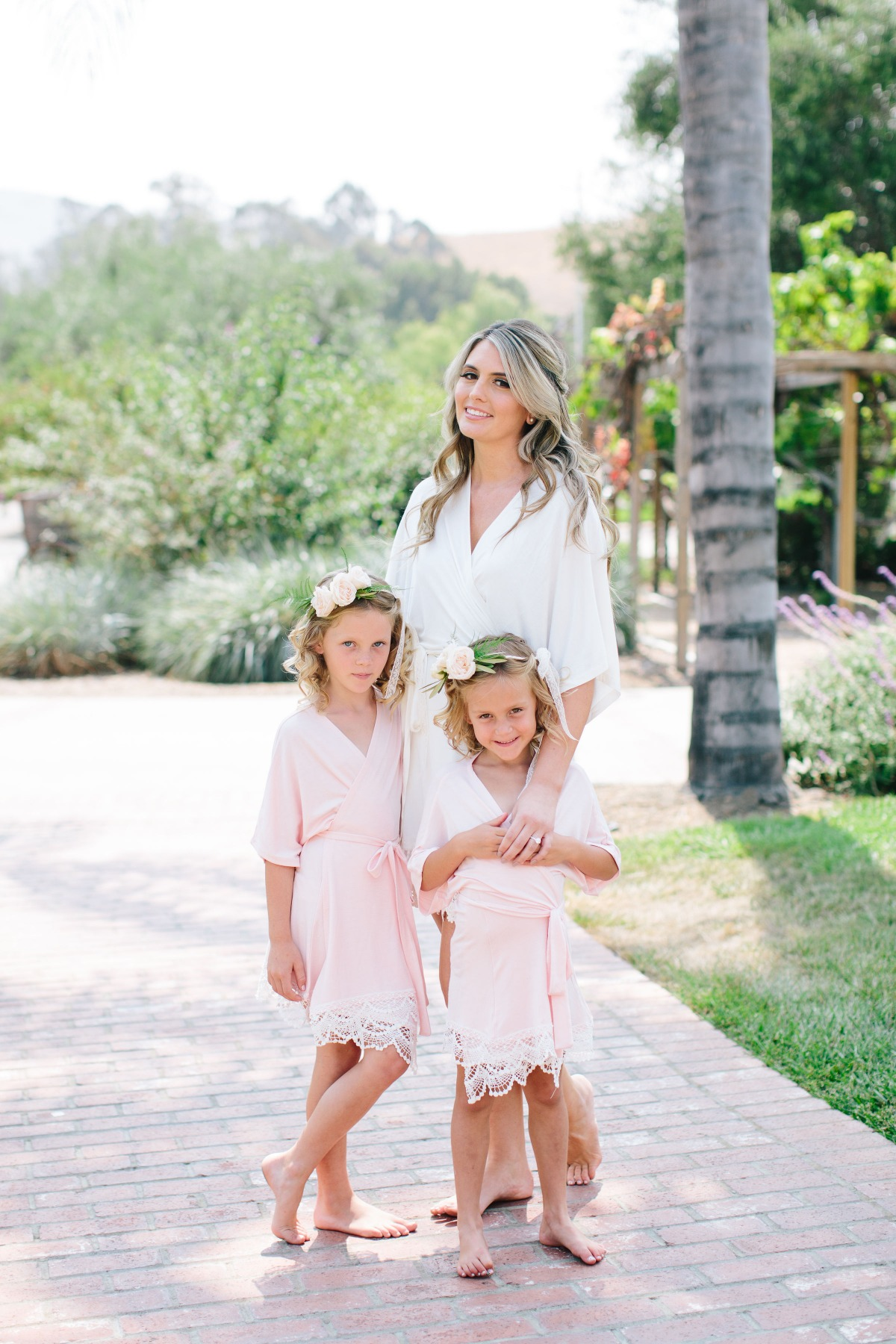 Flower girl bridesmaid robes