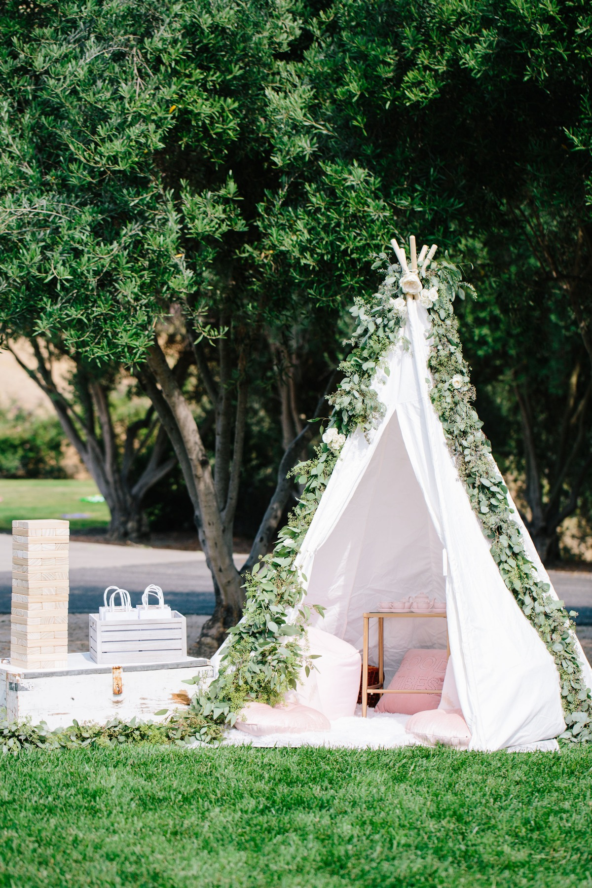 Wedding teepee for kids