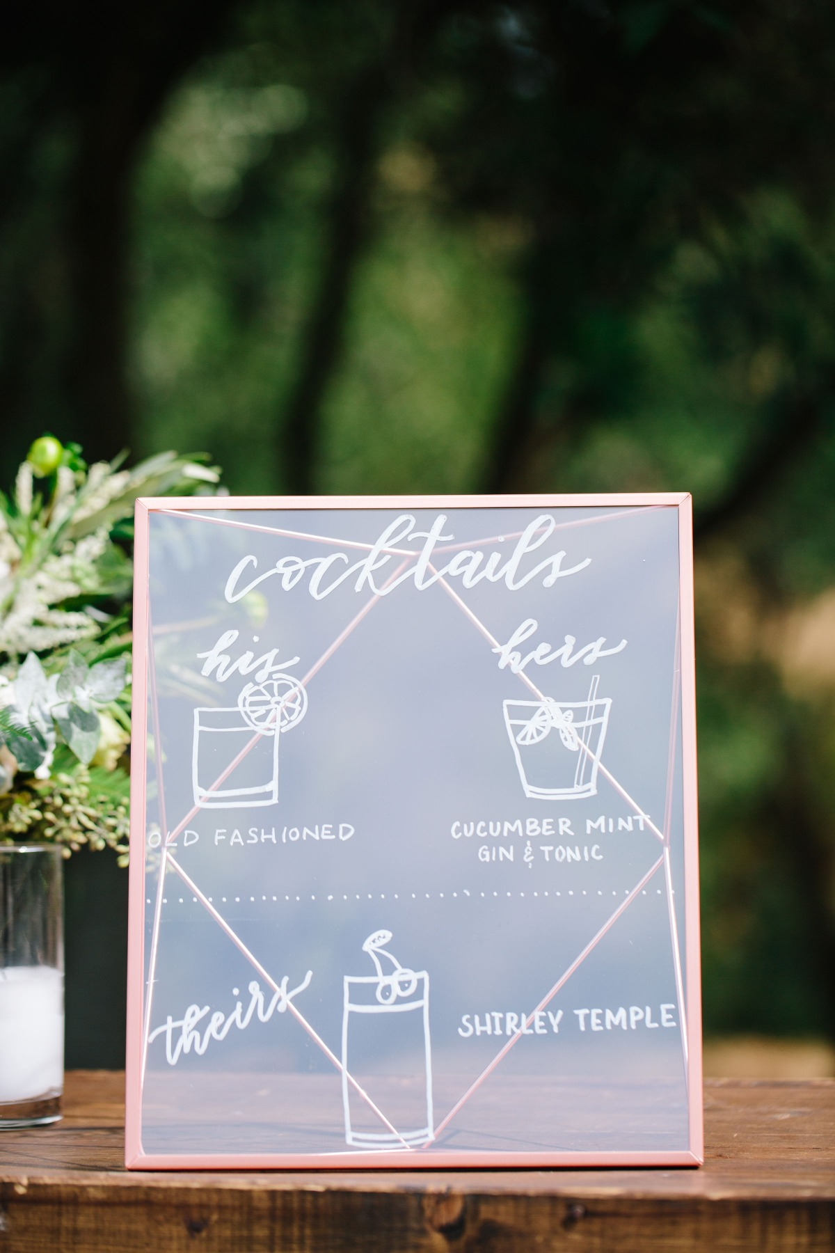 Cocktail wedding sign