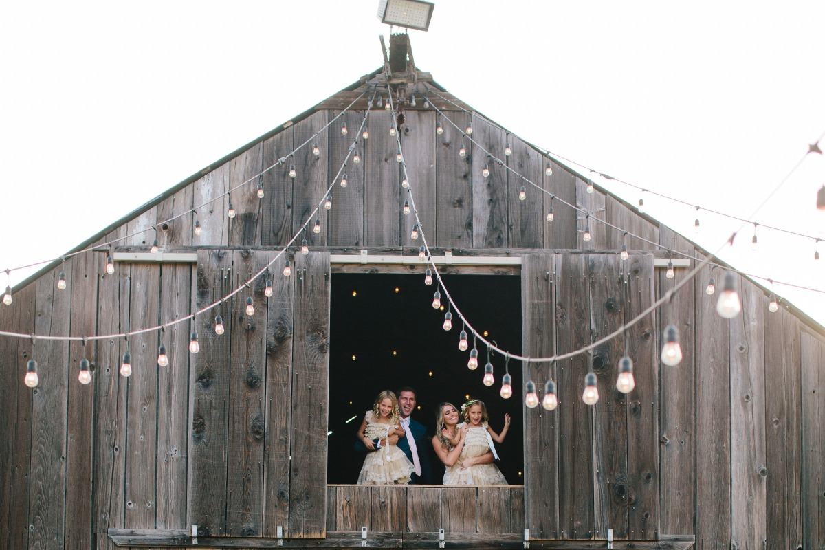 Romantic rustic barn wedding