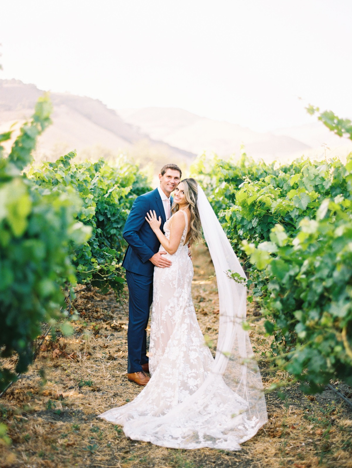 Dreamy rustic vineyard wedding