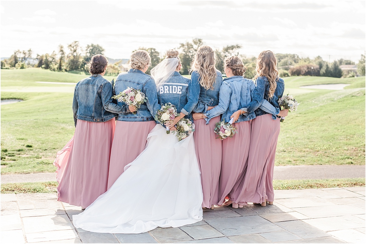 jean jacket wedding bridal party