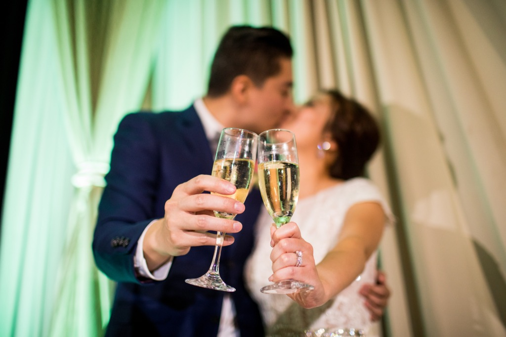 Cheers! Happy New Year! How sweet is this picture of our newlyweds toasting to their happily ever after?