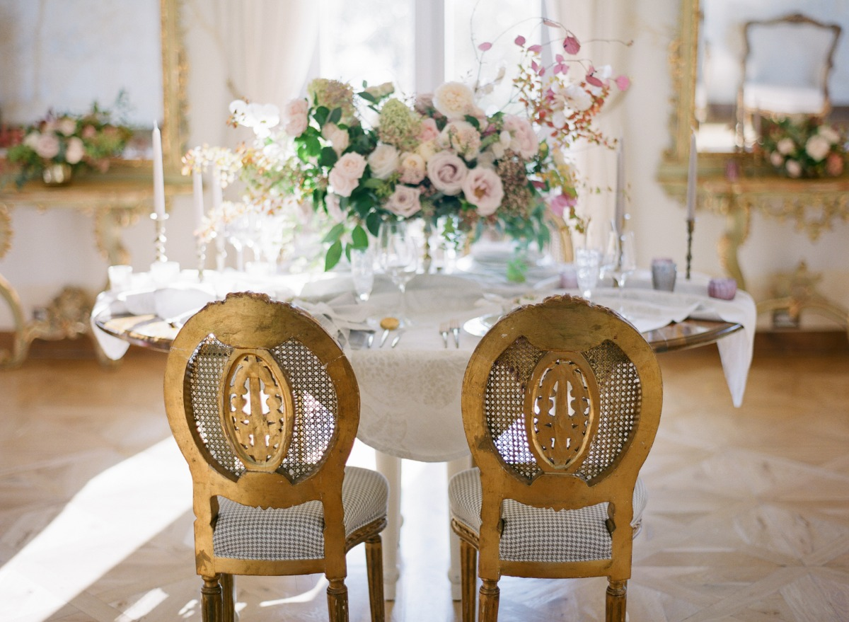 Romantic chateau wedding