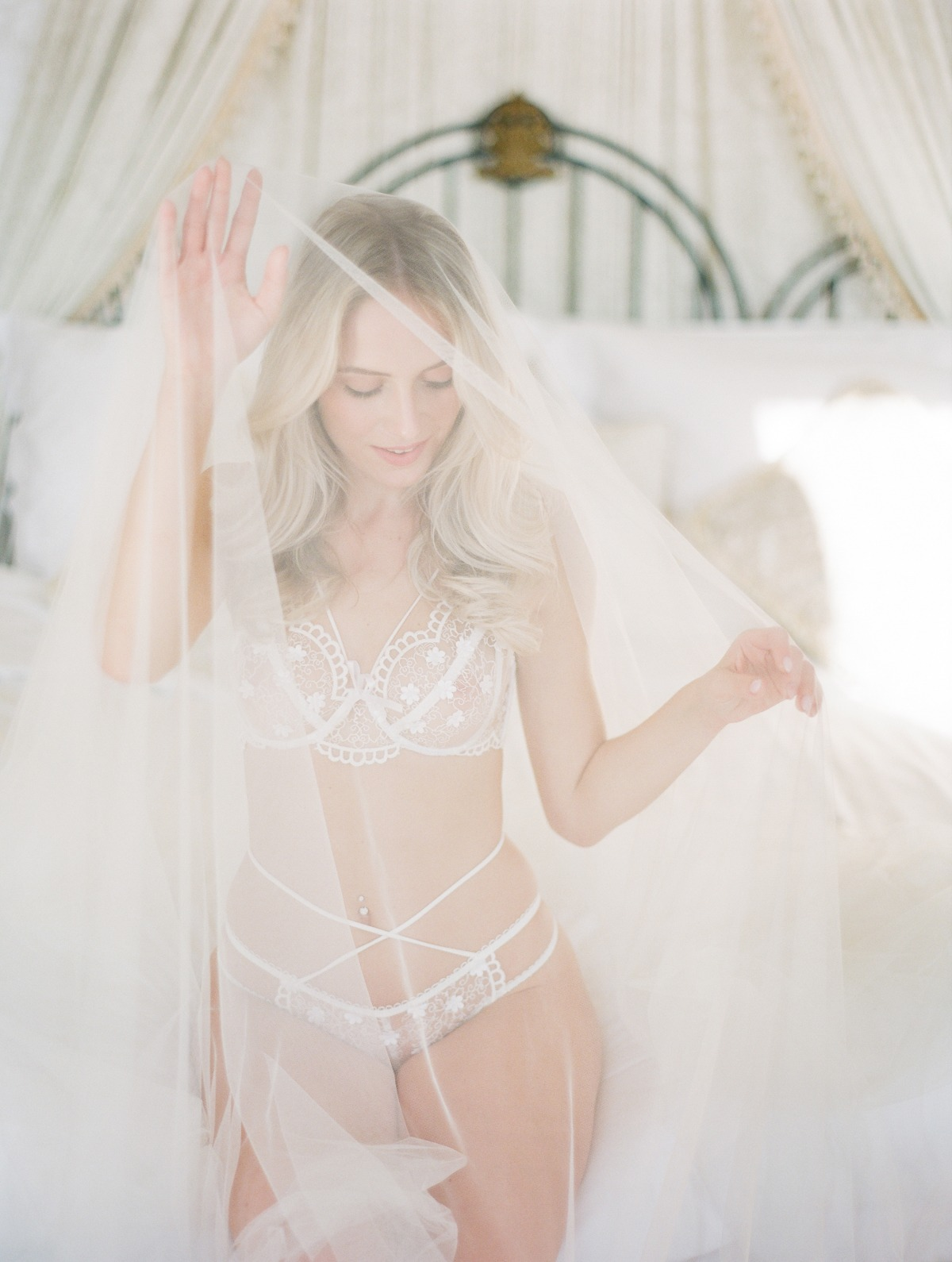 Lacey wedding lingerie