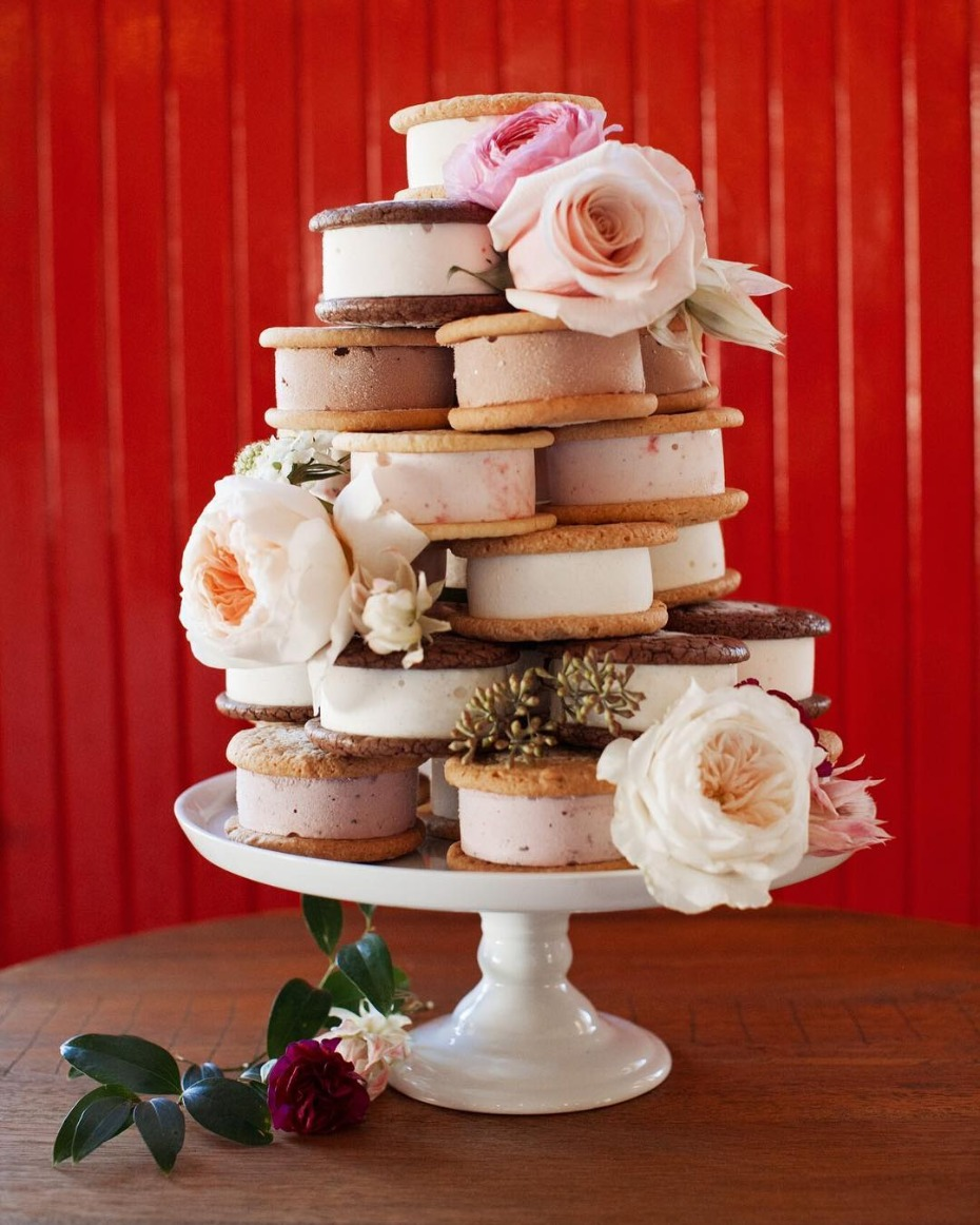 Ice Cream Sandwich Wedding Cake