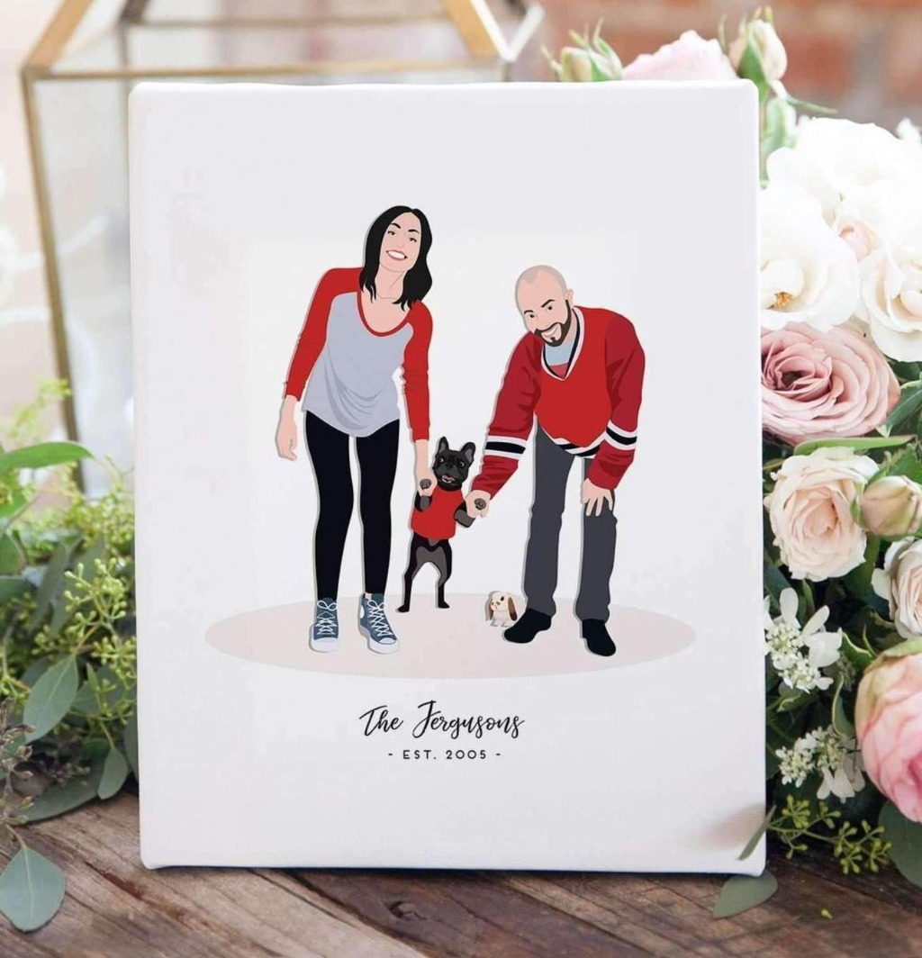 We're big believers in giving art as a gift, and if your first anniversary is coming up, we have the perfect gift for you!! This Couple