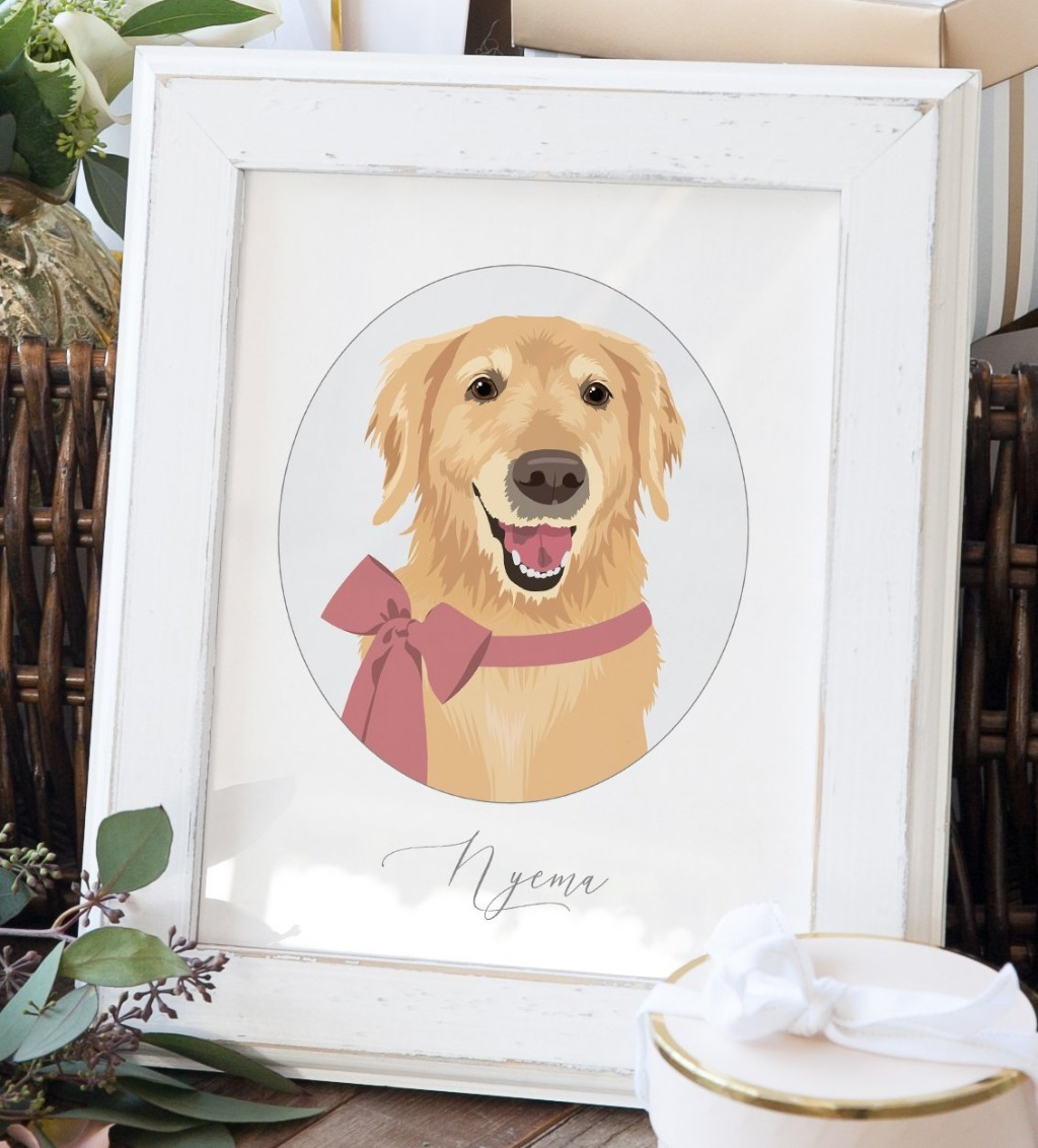 This beautiful Personalized Pet Portrait from Miss Design Berry is the perfect way to surprise your loved one with a wonderful, thoughtful