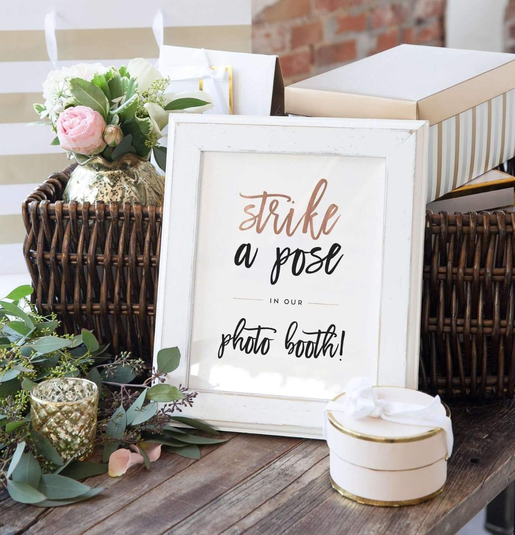 Signage is a super important part of any wedding, and this Wedding Photo Booth Sign is the perfect way to get your guests in the mood