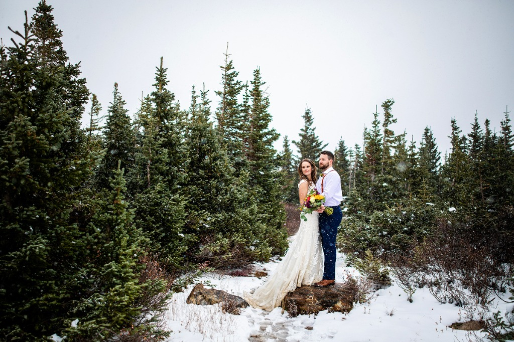 Blizzard conditions didn't stop Lindsey and Jeff from enjoying a day-after session in the high country of Colorado. These two were