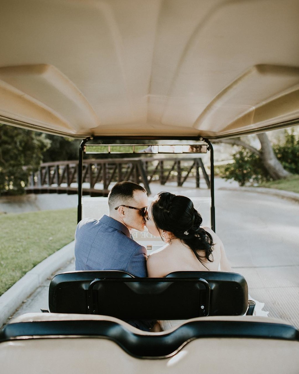 Why wait until you're out of the golf cart for a shot?