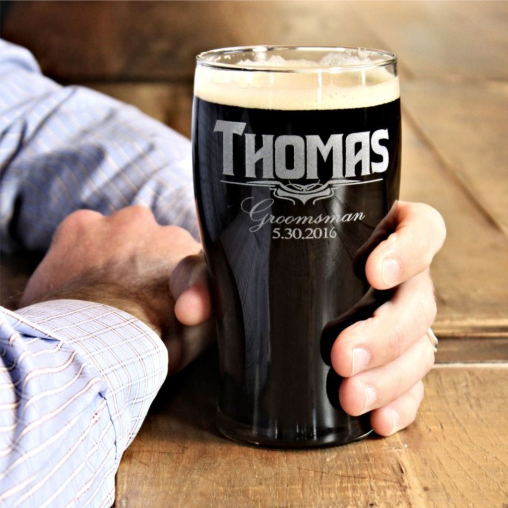 Groomsmen Beer Mugs Personalized for each man in your wedding party by ScissorMill.