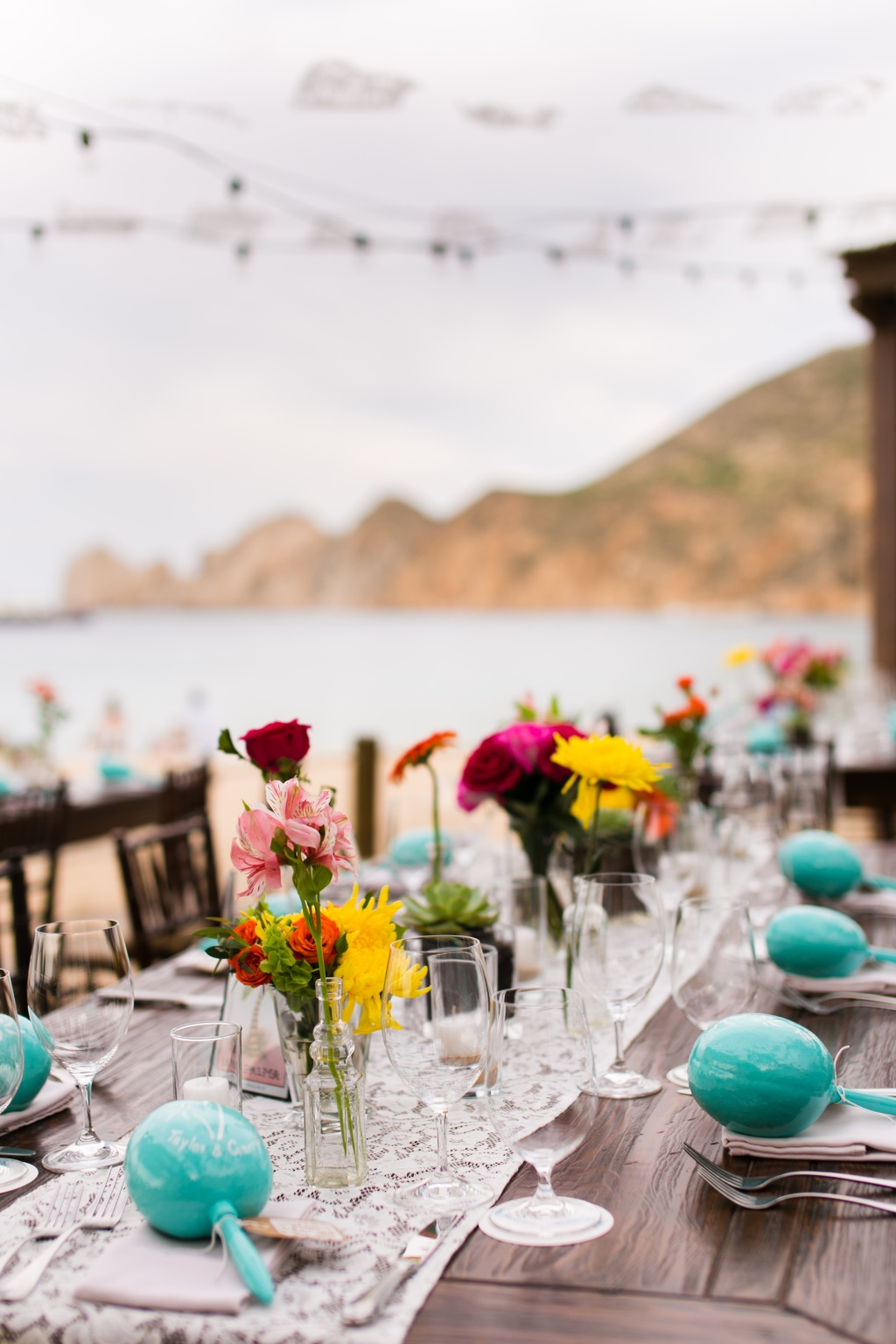 Bright and festive beach wedding!