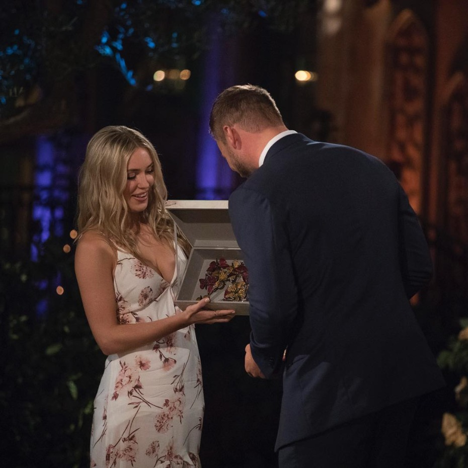 Cassie and Colton Butterflies on Bachelor Premiere Night