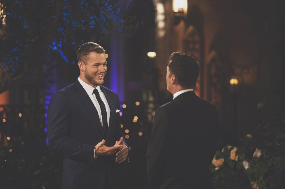 Colton Underwood and Chris Harrison Bachelor Premiere Night