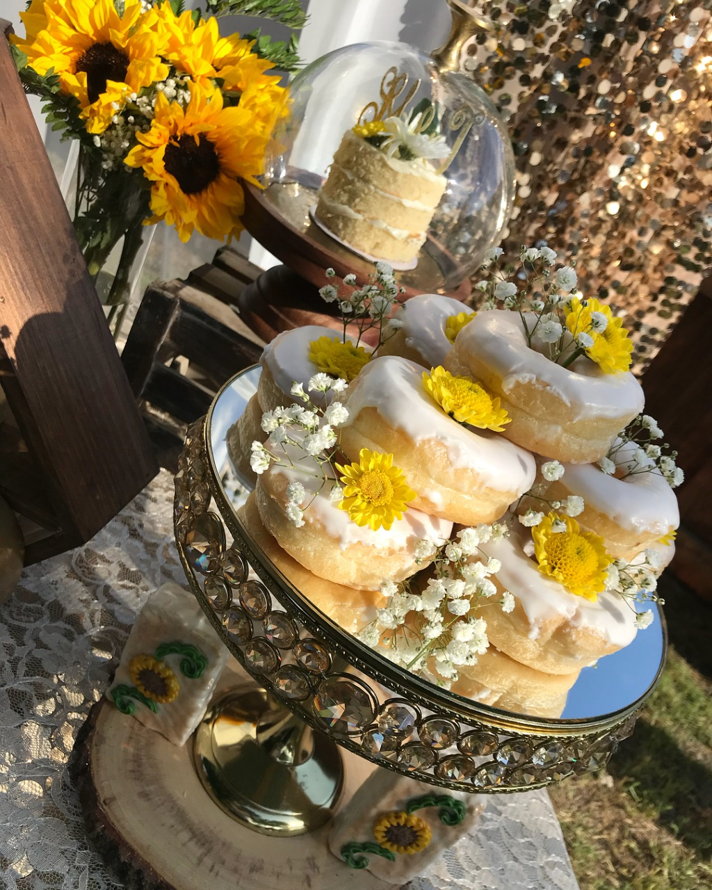 Deliciopus I DO-nuts! Dessert Tables with Opulent Treasures collection of wedding dessert stands