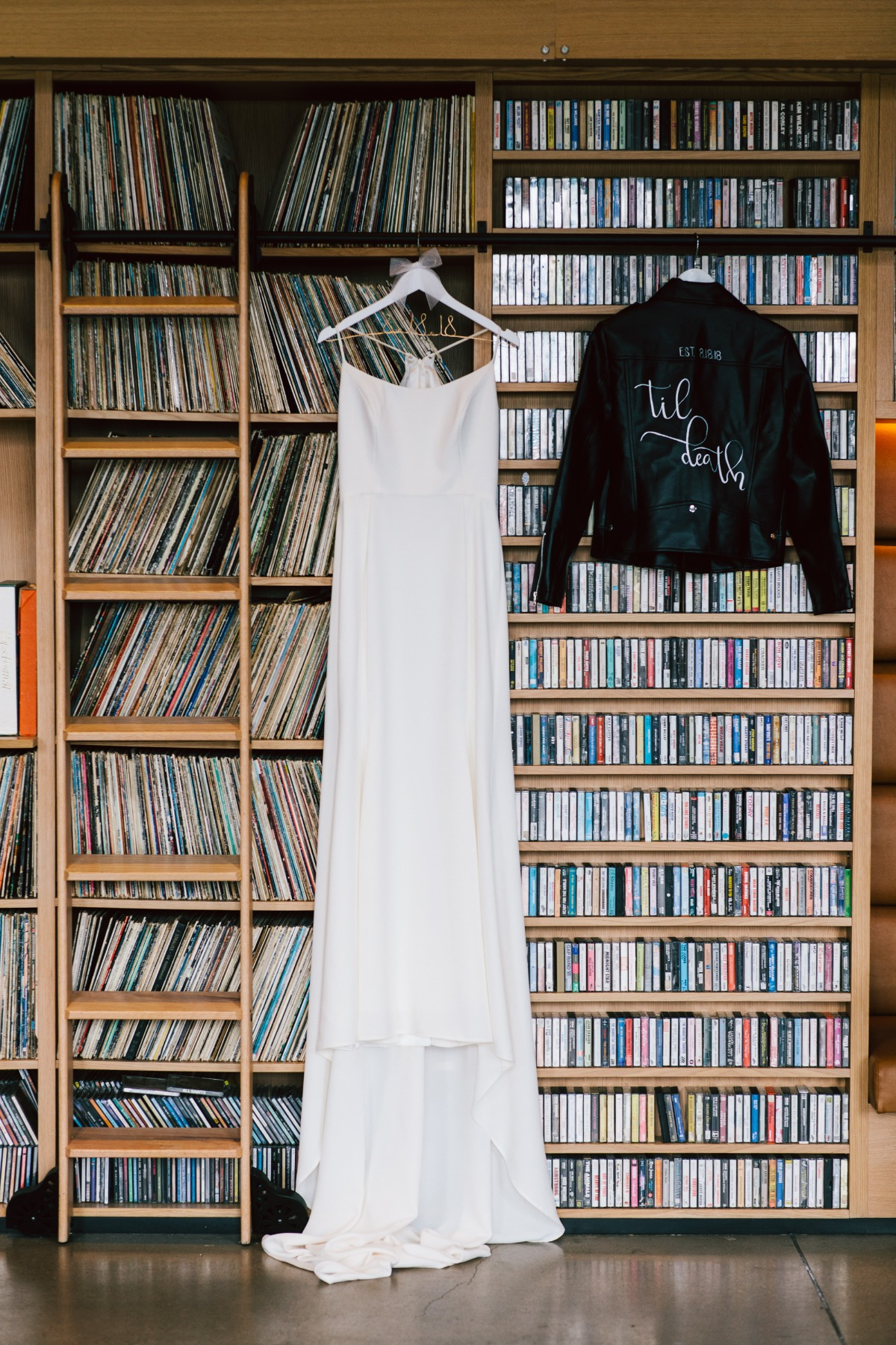simple and chic with a rock star twist bridal style