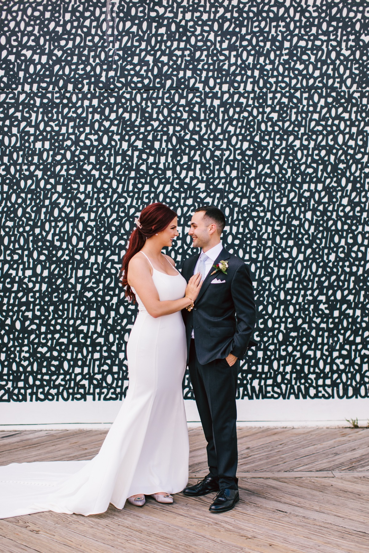 portraits of a wedding couple