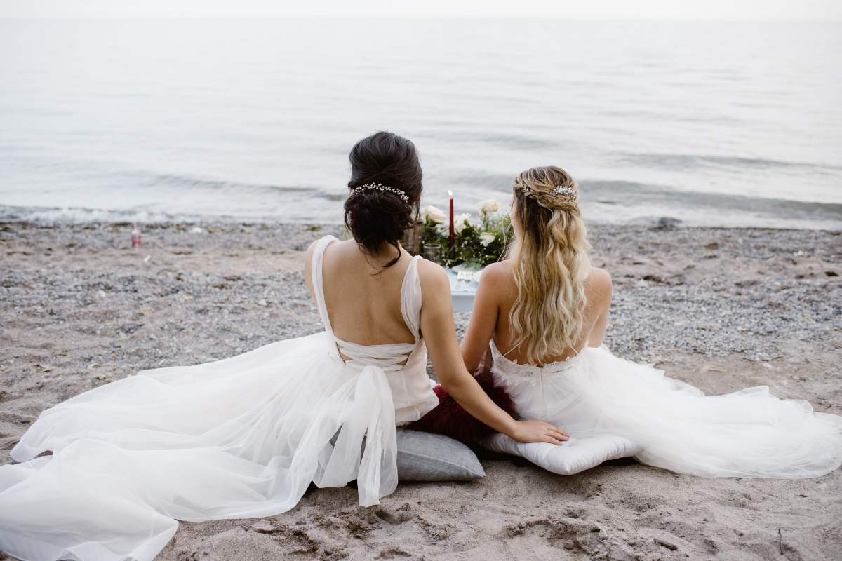Lesbian wedding on the beach