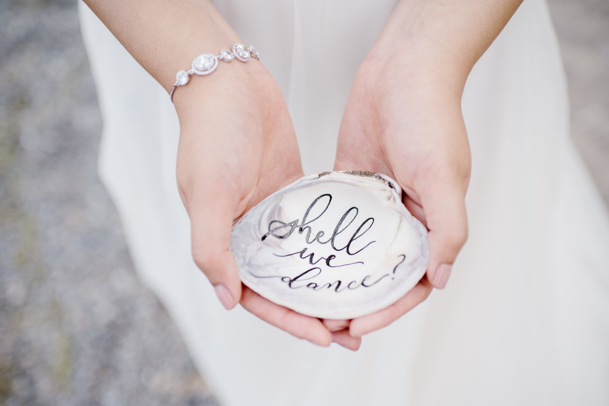 Shell we dance seaside wedding inspiration