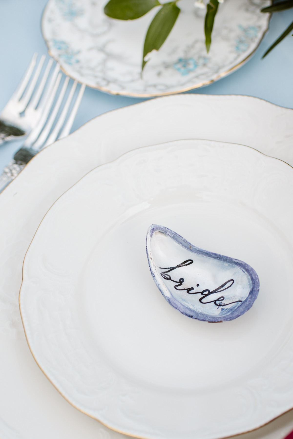 Seashell place card idea
