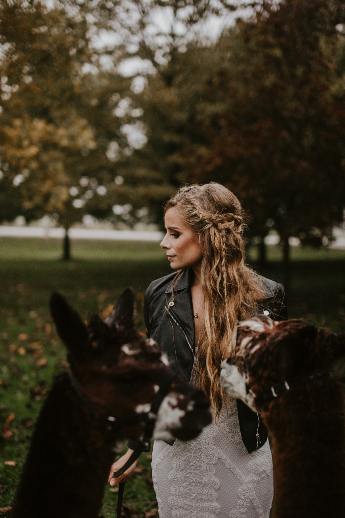 Boho bride in leather