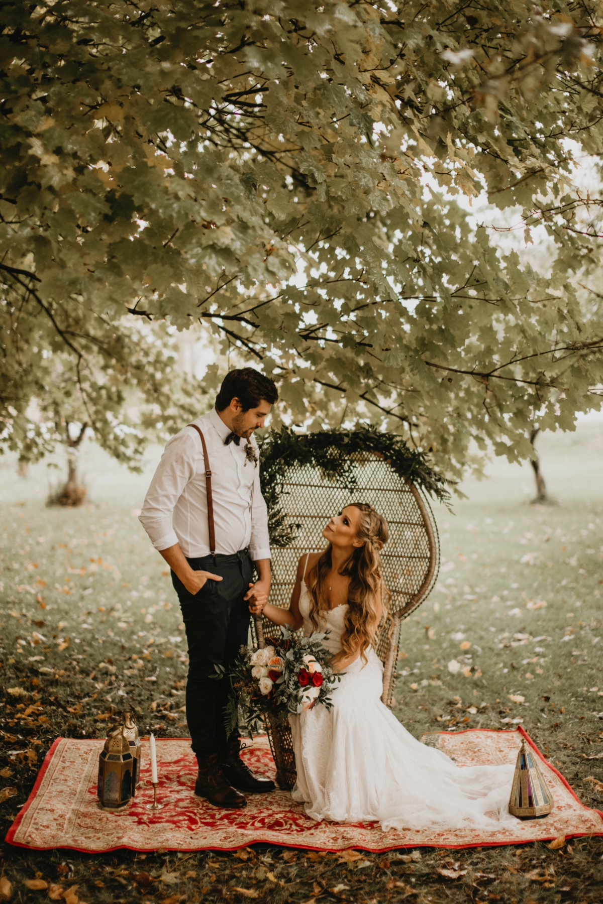 Boho fall wedding