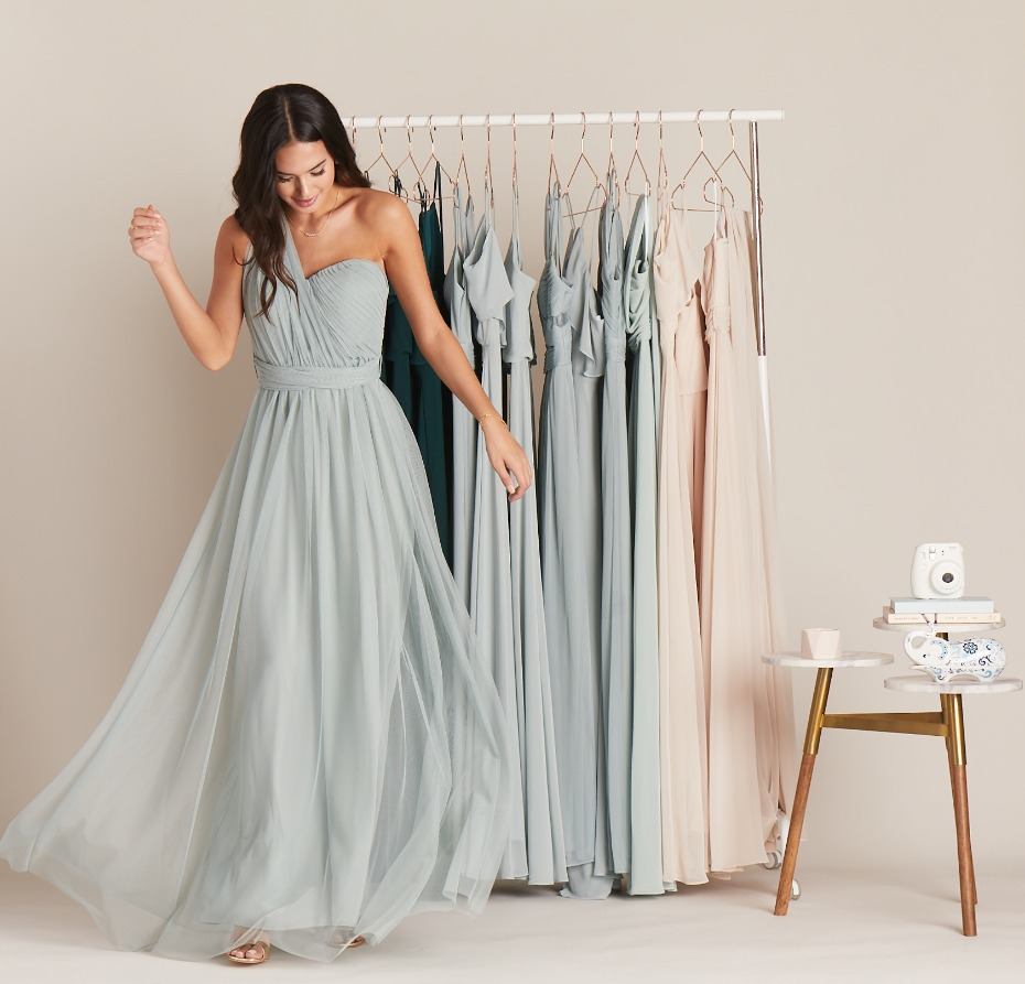 Birdy Grey Sage Gown