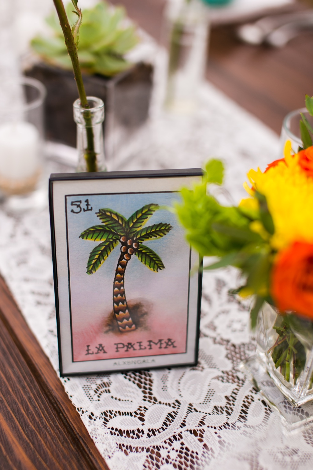 Mexican Loteria as part of your wedding decoration!