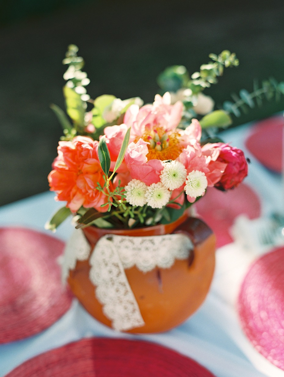 coral inspired wedding centerpiece