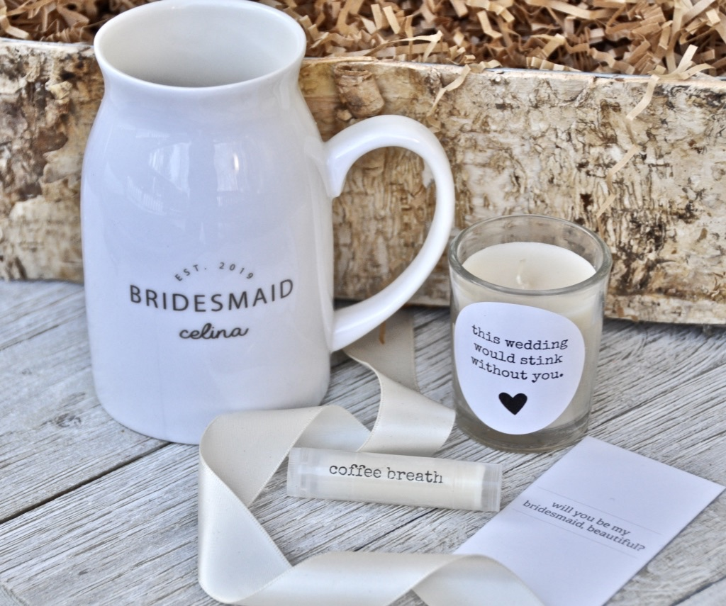 Bridesmaid proposal gifts that are personalized for the most important people in your life! Find them at www.inktandco.com