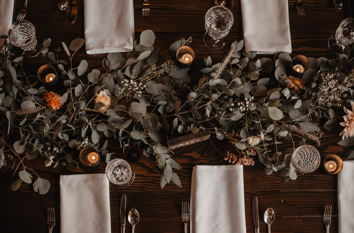 eucalyptus wedding table carland