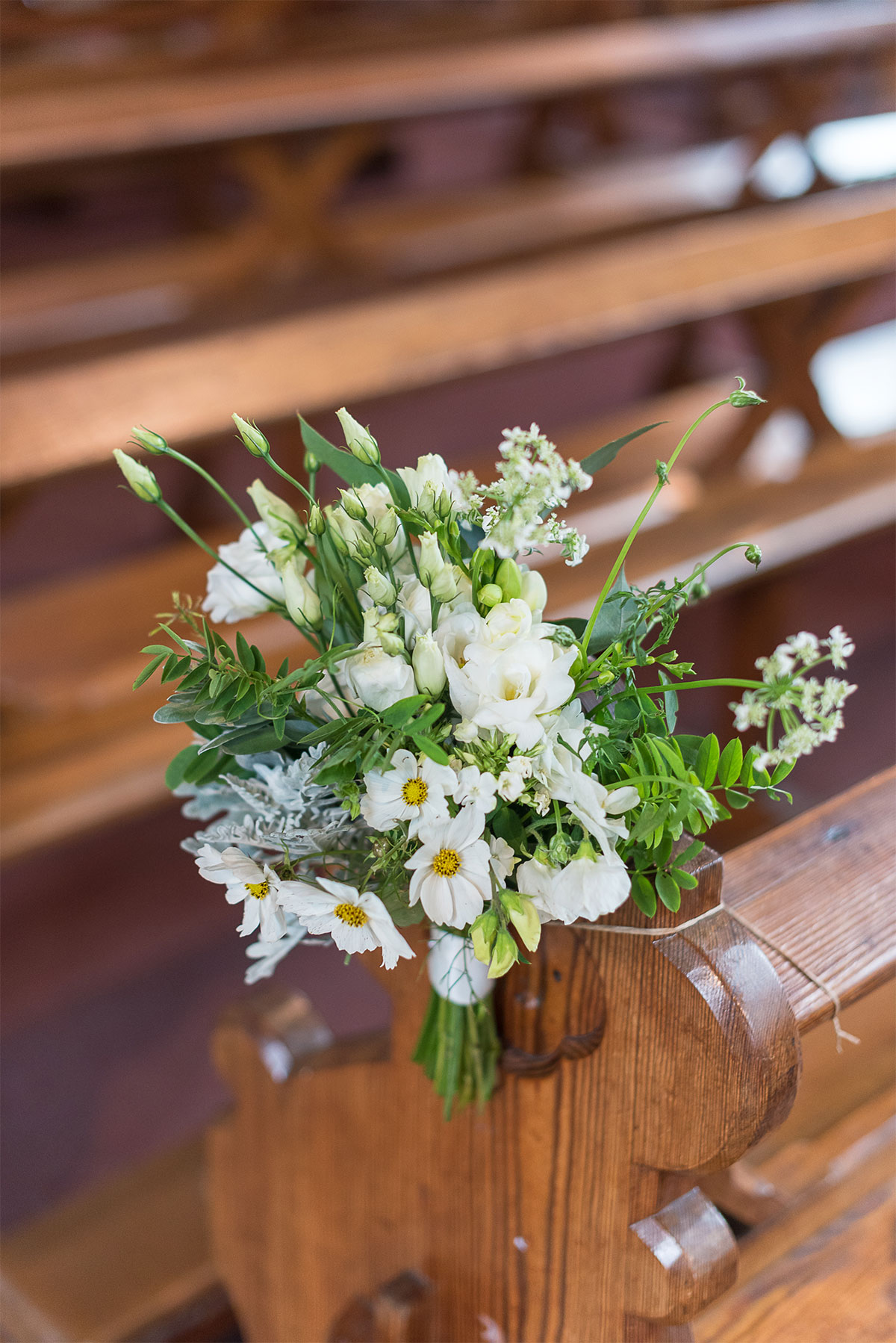 floral wedding aisle decor