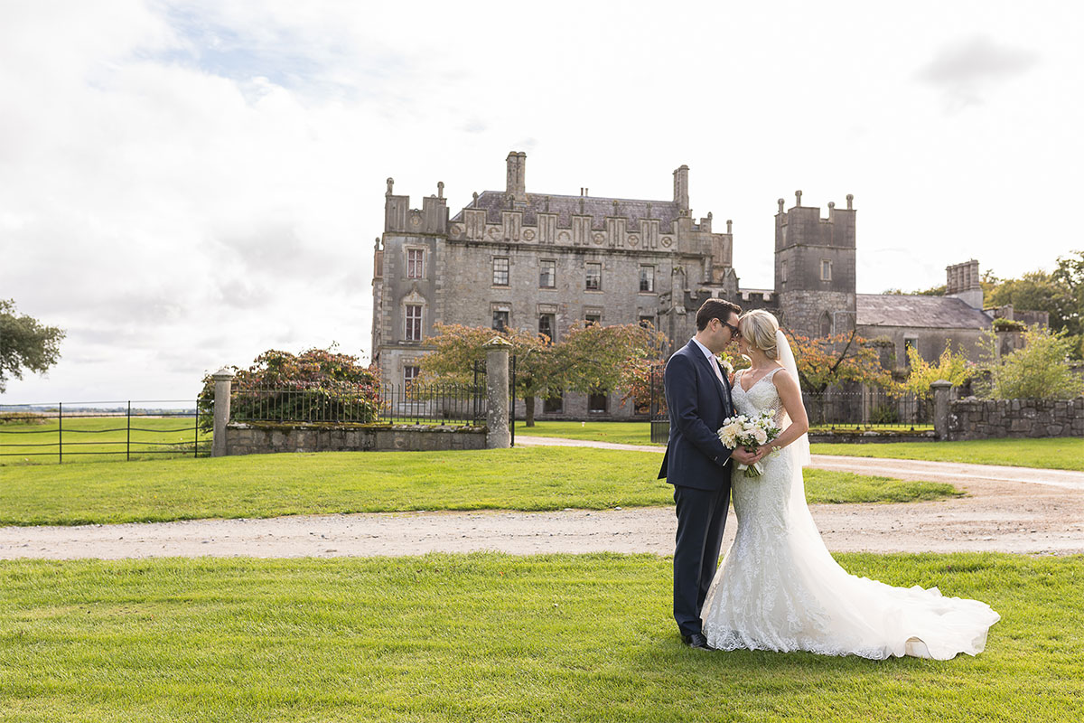 wedding couple at Borris House