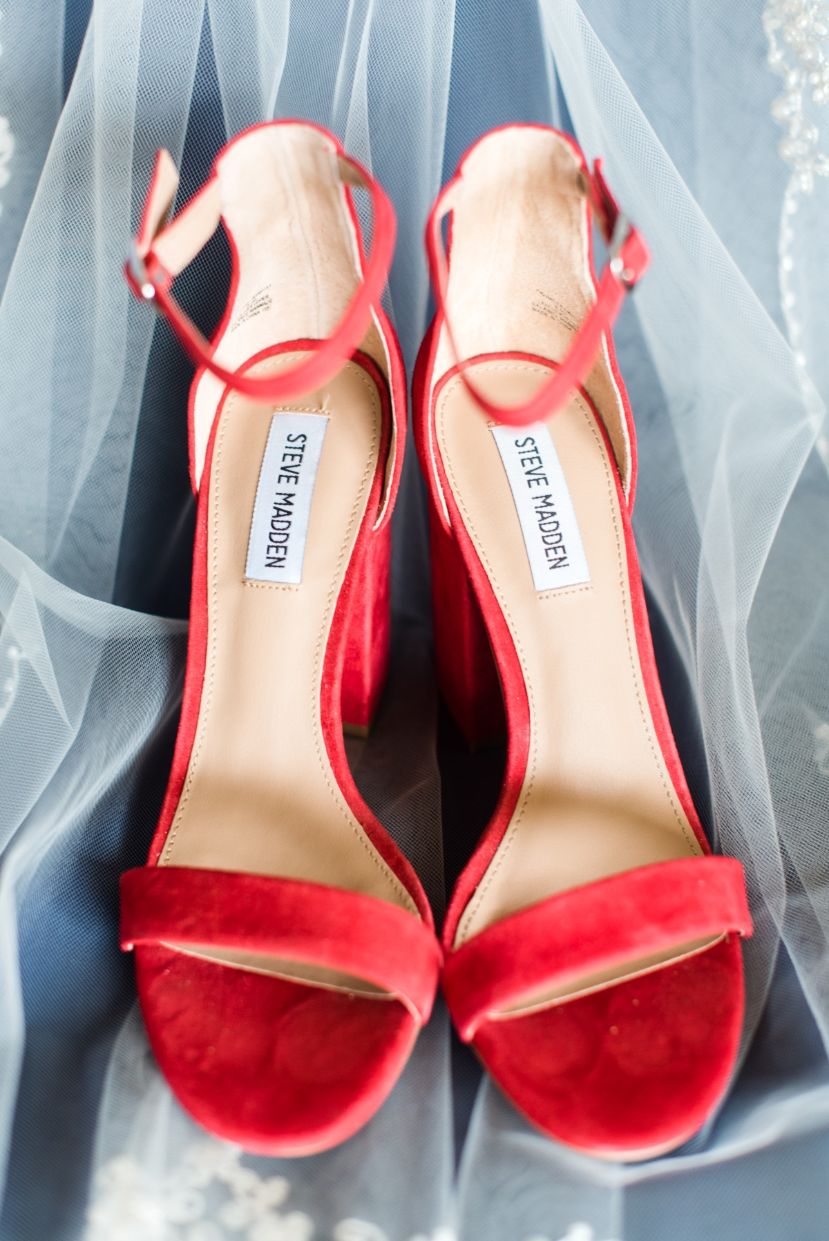 Red wedding heels