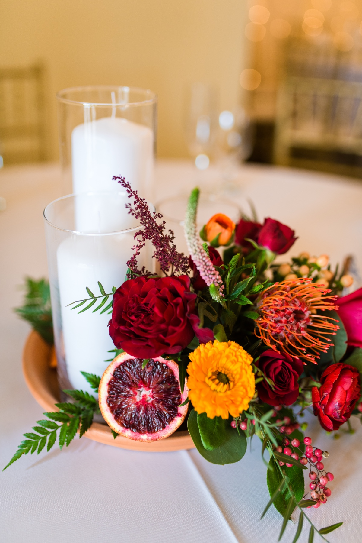 Dried fruit centerpiece