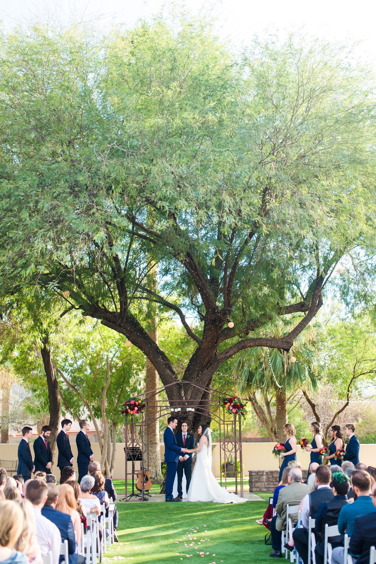 Stylish garden ceremony