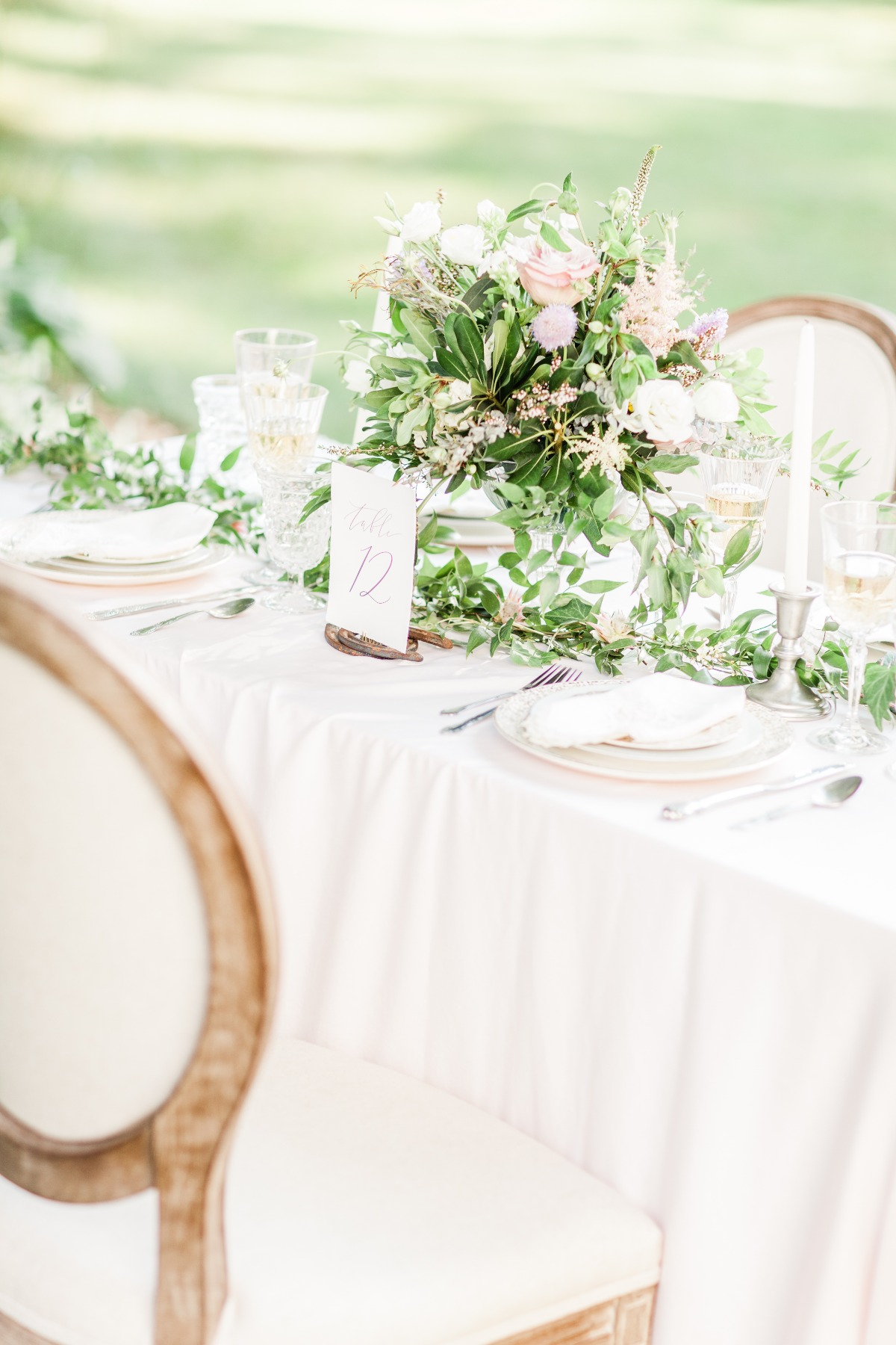elegant garden wedding reception idea