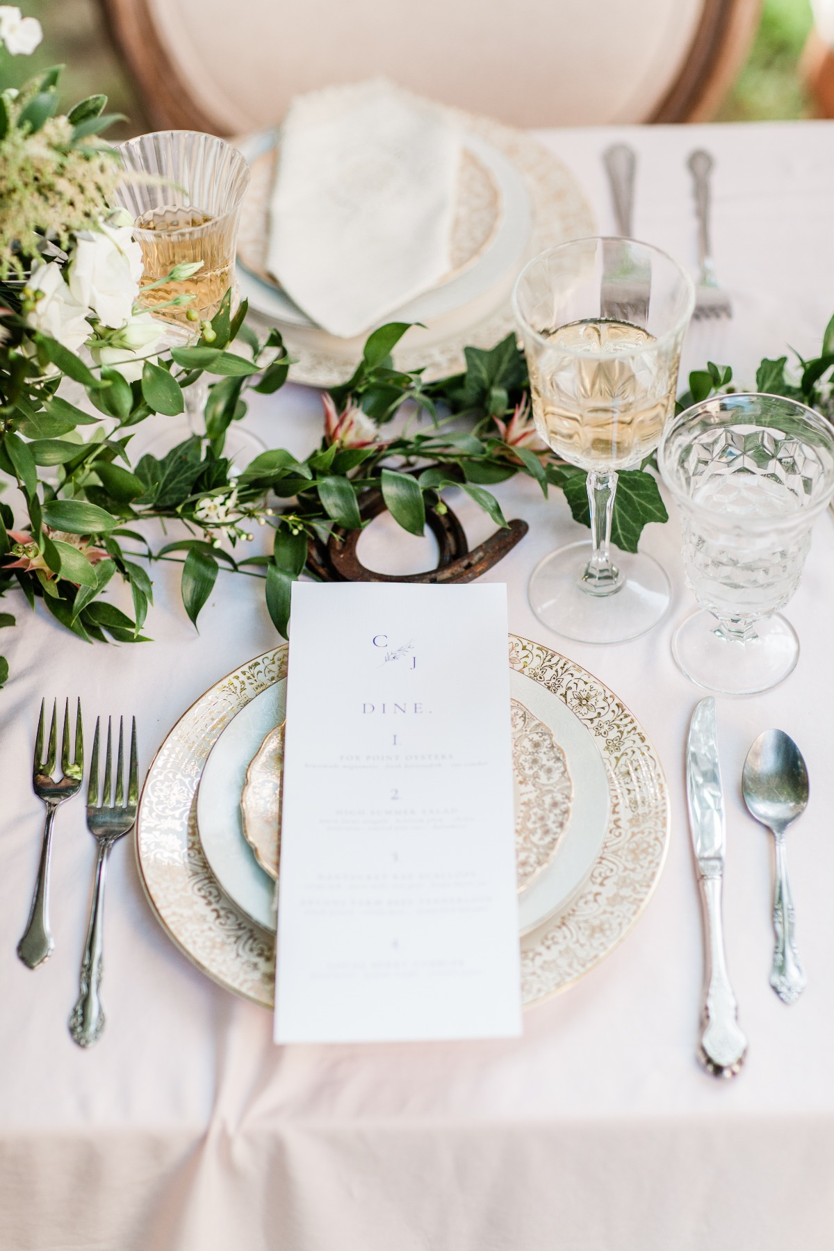 elegant wedding at the derby inspired table decor