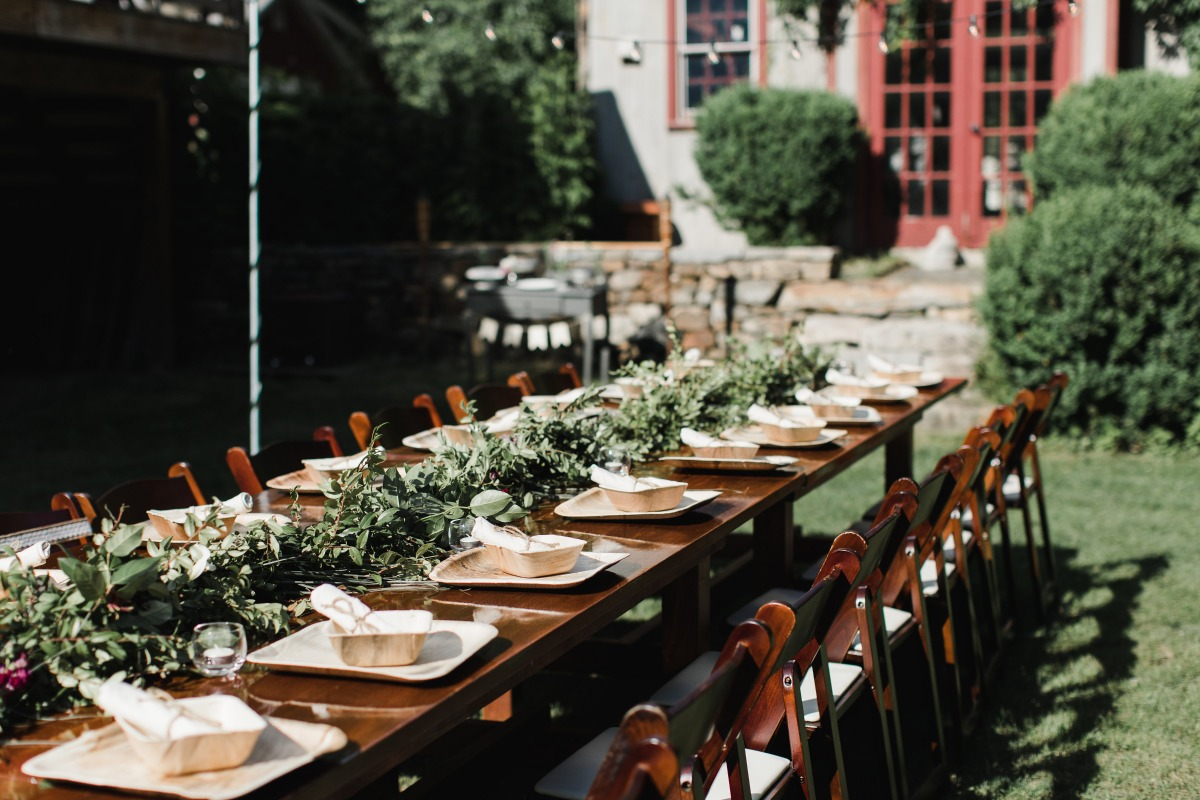 Rustic outdoor reception at The Spirit Horse Farm