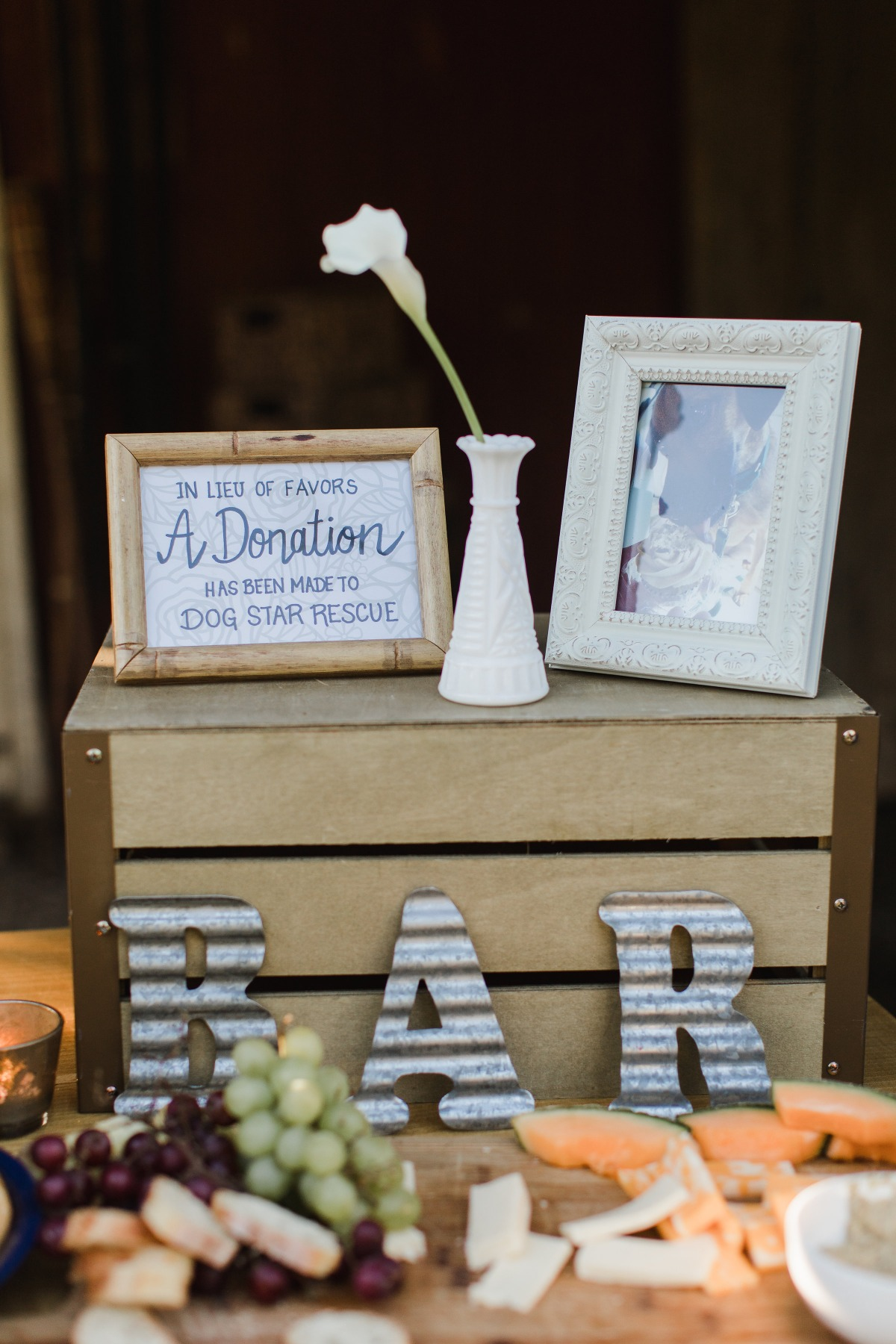 wedding donation idea