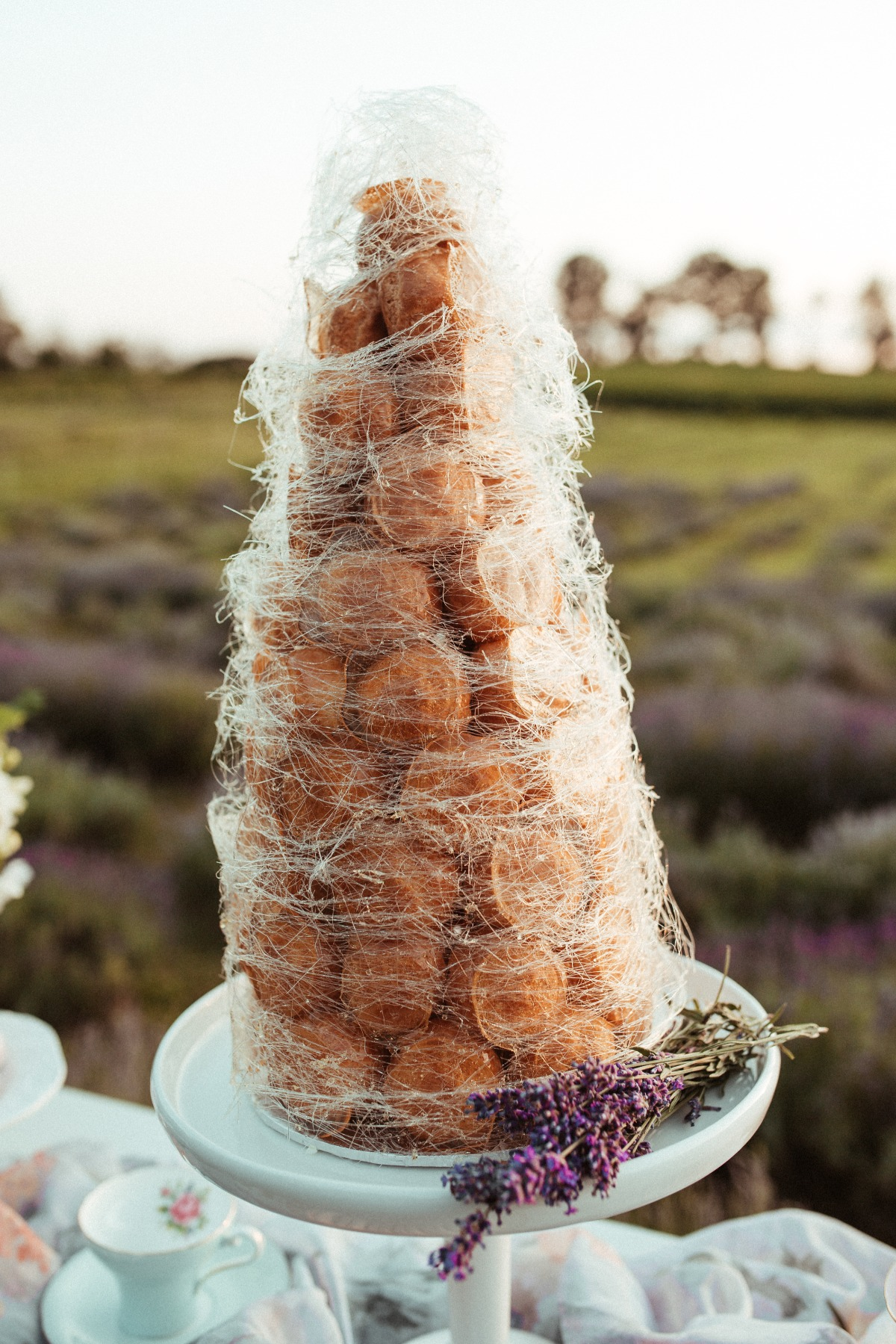 French Croquembouche wedding cake