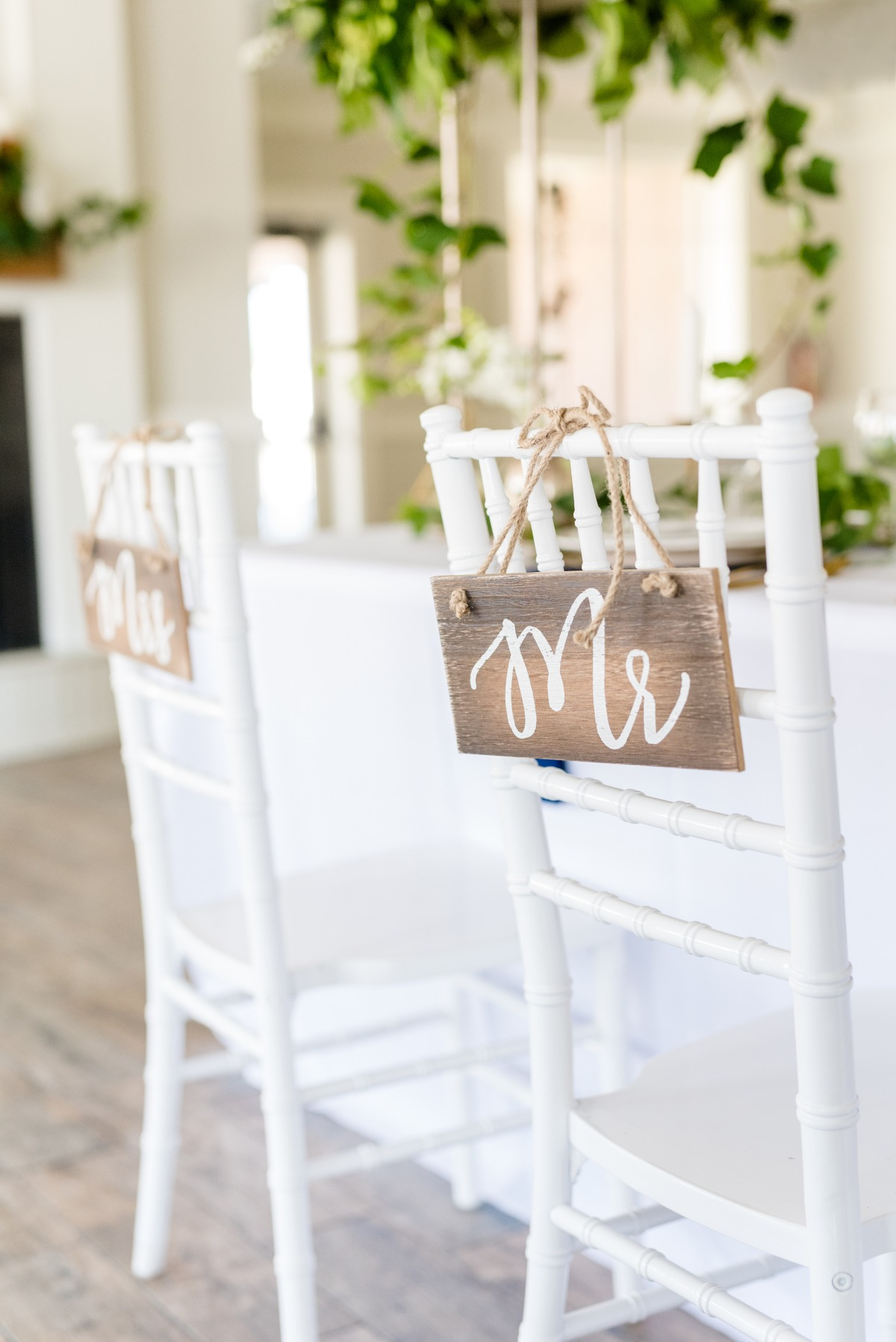 wooden wedding seat signs