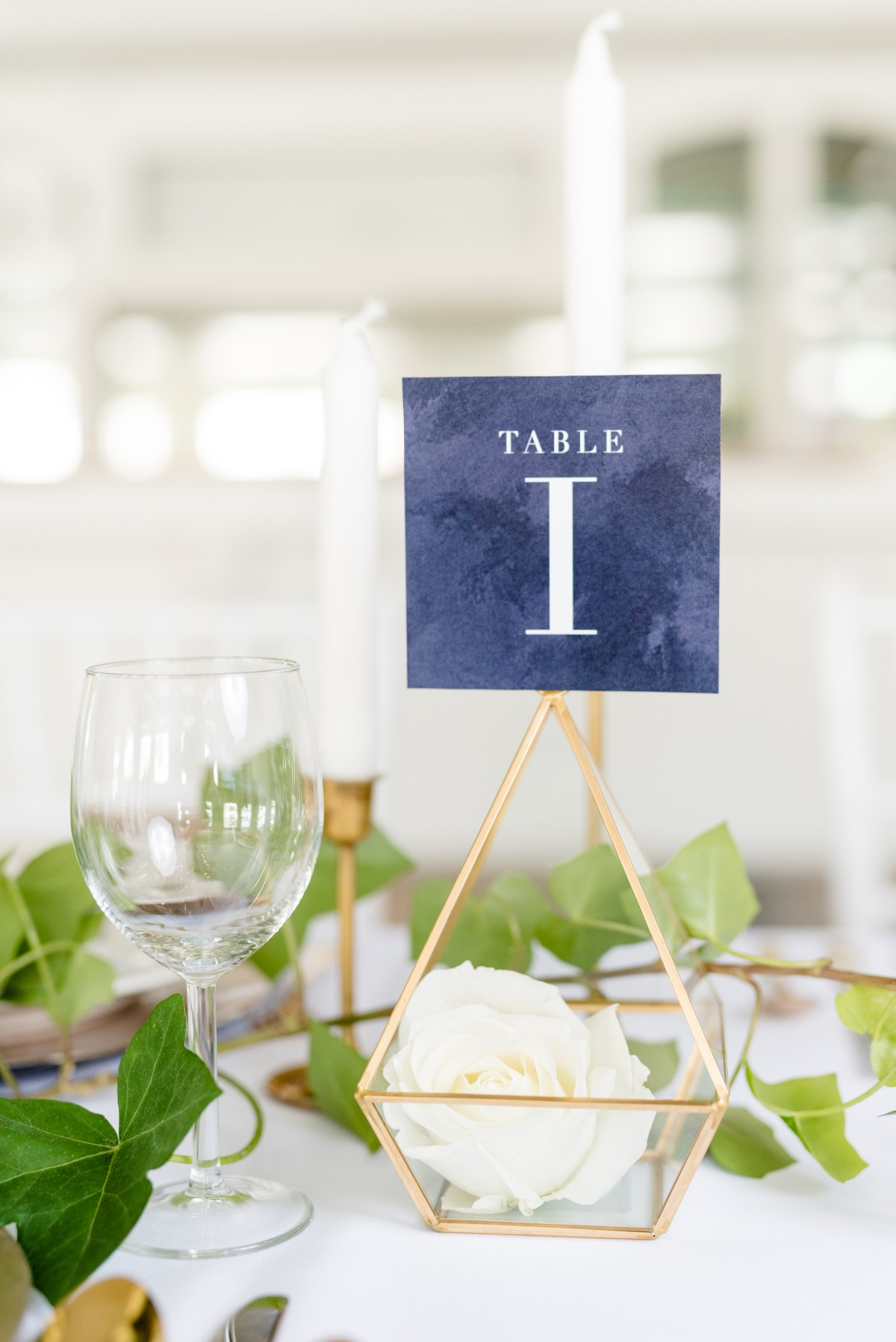 wedding table number idea