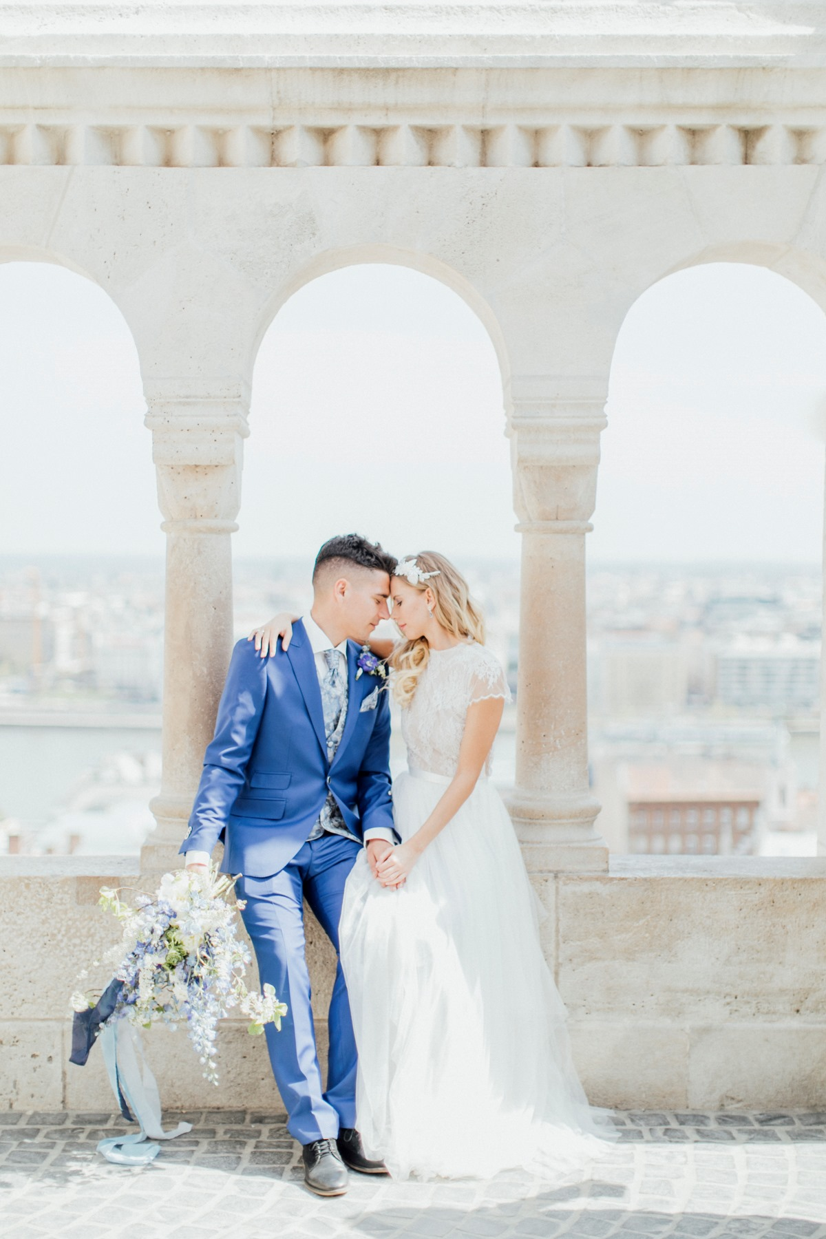 Light and airy Budapest wedding
