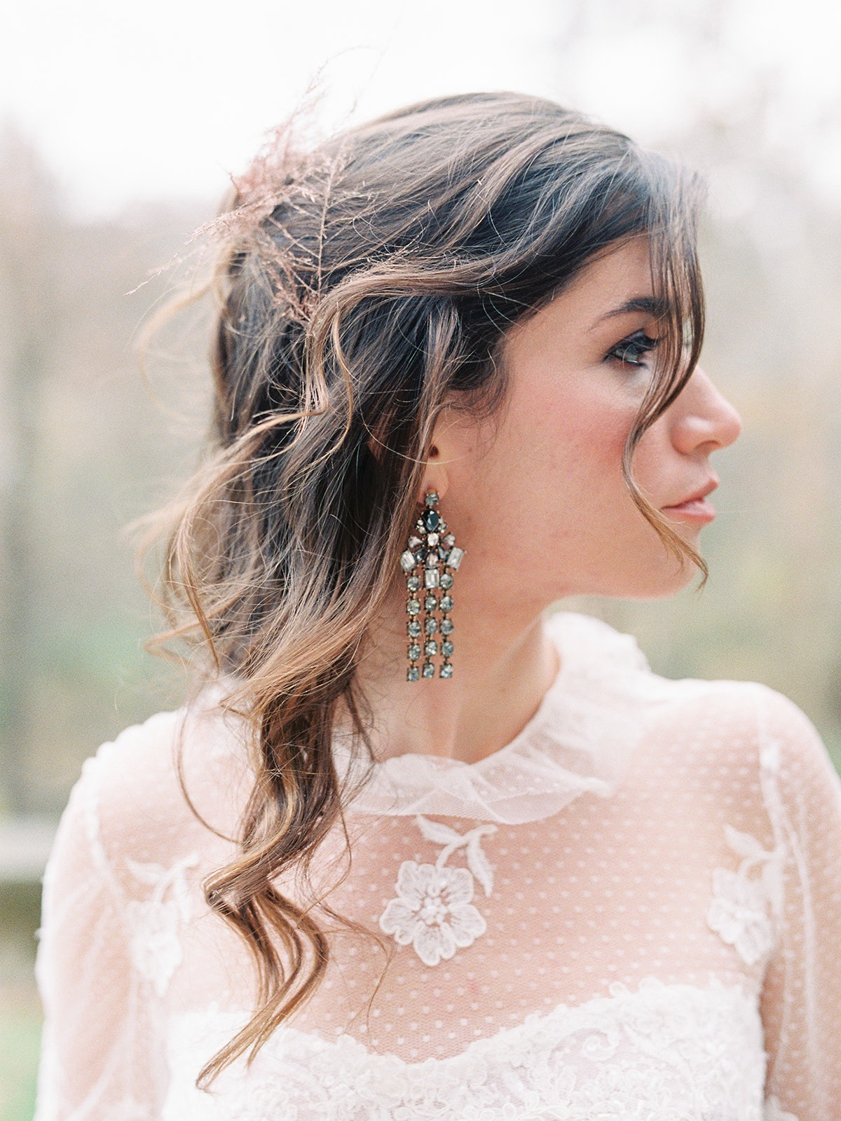 Bridal hair and jewelry